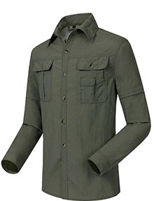 户外袖子可拆卸速干衬衣