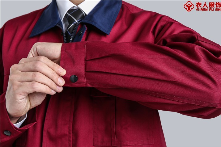 涤棉纱卡工作服