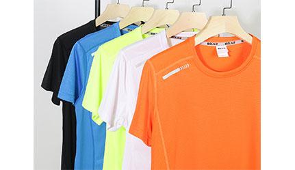 闪光布速干圆领T恤文化衫